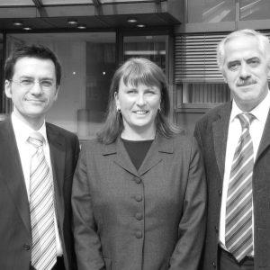Thomas Kutschaty, Britta Altenkamp und Dieter Hilser